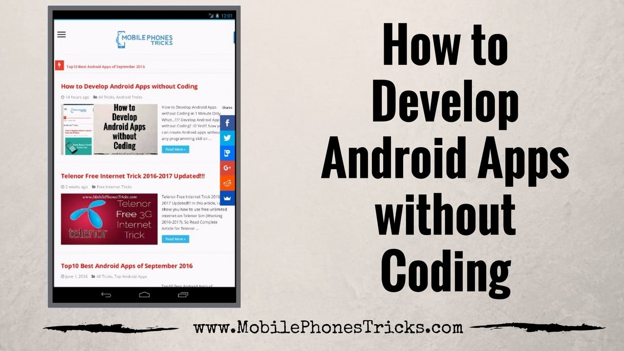 How to Develop Android Apps without Coding - Easy App Development