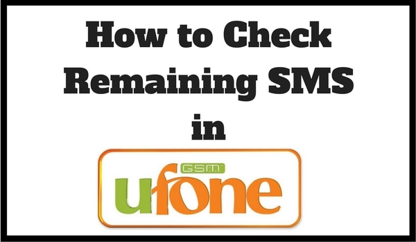 How to Check Remaining SMS in Ufone