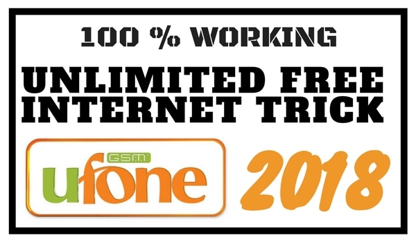 Ufone Free Internet Trick 2018 Latest Updated!!!