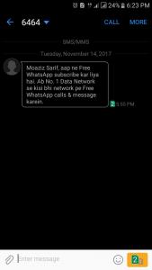 Zong Free WhatsApp Code 2017-2018