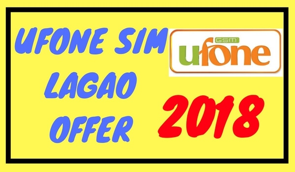 Ufone Sim Lagao Offer Code 2018