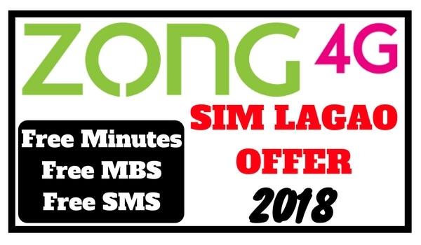 Zong Sim Lagao Offer Code 2018