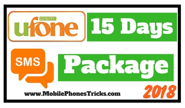 Ufone SMS Package 15 Days - Latest 2018 Updated