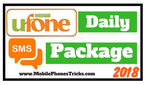 Ufone SMS Package Daily 2018 Latest New Updated