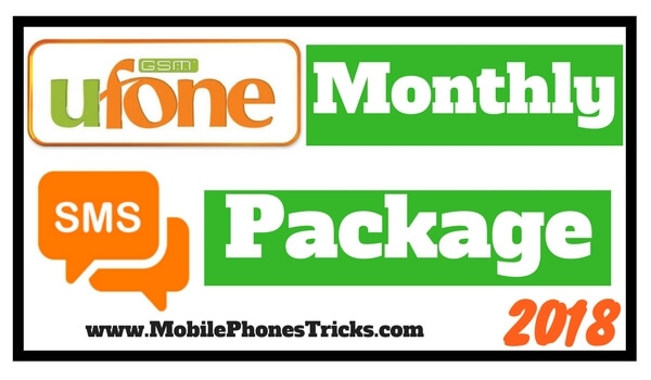 Ufone SMS Package Monthly 2018 - 20,000 SMS for 30 Days