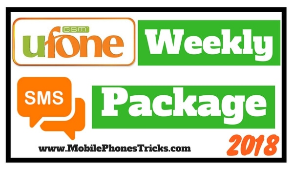 Ufone SMS Package Weekly - Latest Cheap Package 2018