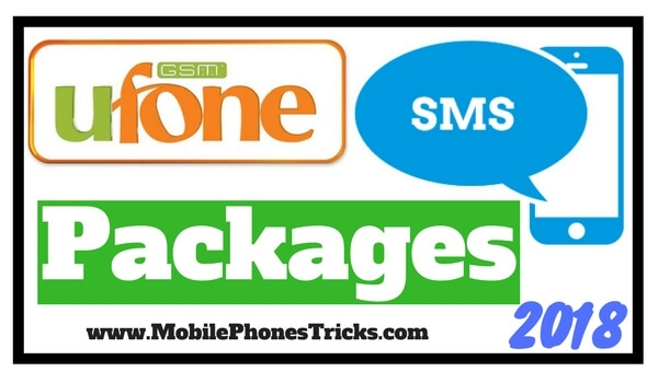 Ufone SMS Packages 2018 Daily Weekly Monthly
