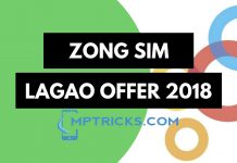 Zong Sim Lagao Offer 2018