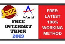 Jazz Mobilink Free Internet Trick 2019