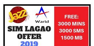 Jazz Sim Lagao Offer 2019