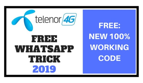 Telenor Free WhatsApp Trick 2019 - Latest Unlimited Free Internet Tricks Codes