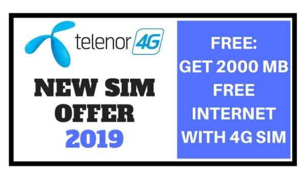 Telenor New SIM Offer 2019