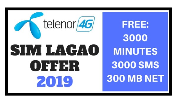 Telenor Sim Lagao Offer 2019 - Free 3000 Minutes - Internet - SMS 1