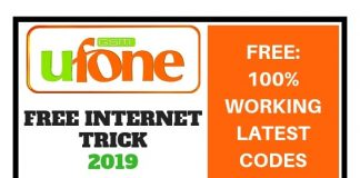 Ufone Free Internet Trick 2019