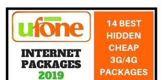 Ufone Internet Packages 2019