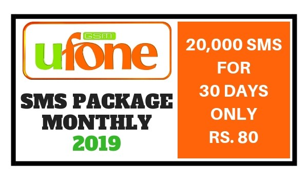 Ufone SMS Package Monthly 2019