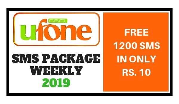 Ufone SMS Package Weekly 2019