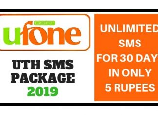Ufone Uth SMS Package 2019