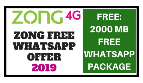 Zong Free Whatsapp Packages 2019 (Weekly & Monthly) Unlimited Free Videos & Calls