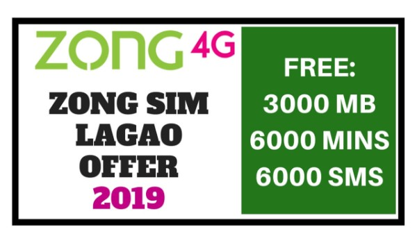 Zong Sim Lagao Offer 2019