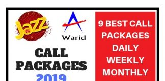 Jazz Call Packages 2019 (Daily Weekly Monthly)