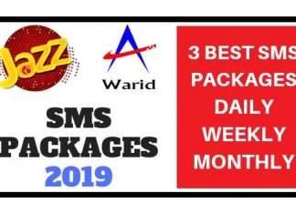 Jazz SMS Packages 2019