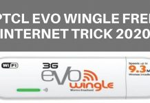 PTCL Evo Wingle Free Internet Trick 2020
