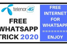 Telenor Free WhatsApp Trick 2020