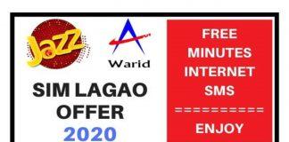 Jazz Warid Sim Lagao Offer 2020