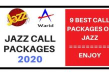 Jazz to Jazz Call Packages 2020