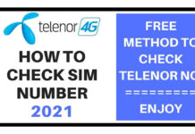 How to Check Telenor Number 2021