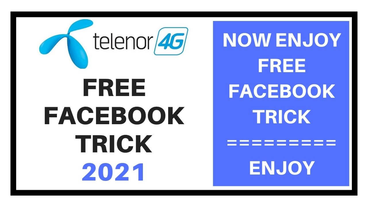 Telenor free facebook trick 2021