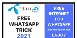Telenor free whatsapp trick 2021
