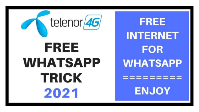 Telenor free whatsapp trick 2021