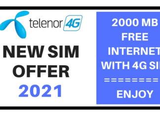 Telenor new sim offer 2021