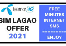 Telenor sim lagao offer 2021