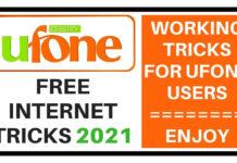 Ufone free internet tricks 2021