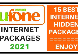 Ufone internet packages 2021