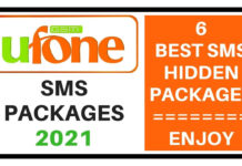 Ufone sms packages 2021