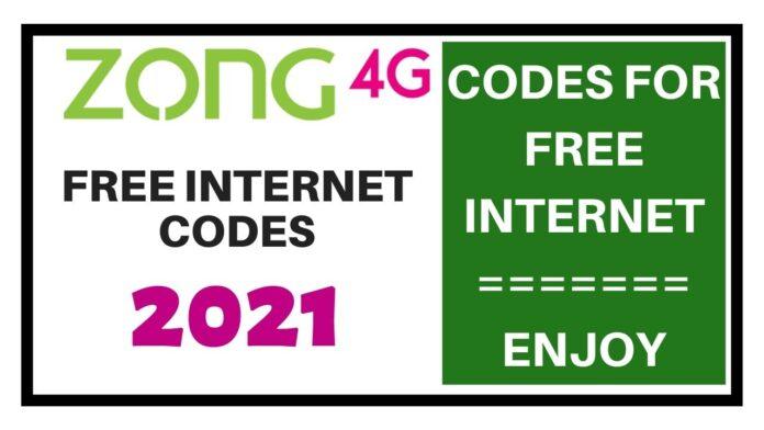 Zong Free Internet Code 2021