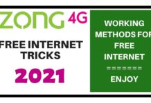 Zong Free Internet Tricks 2021