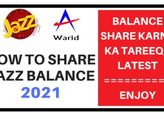 how to share jazz balance 2021
