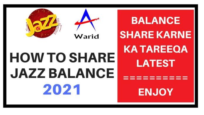 how to share jazz balance 2021